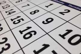 Program Calendar May 2018