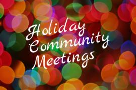 December 2018 Program Calendar