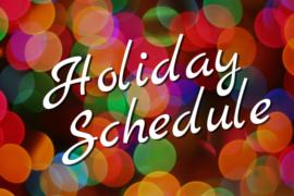 Holiday Break Schedule